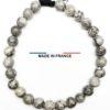 Bracelet yodee en Jaspe Picasso gris 6 mm vue du dessus