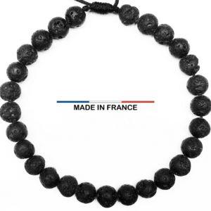 Bracelet Pierre de Lave 6 mm vue du dessus