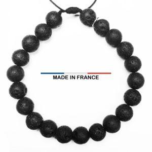 Bracelet Pierre de Lave 8 mm vue du dessus