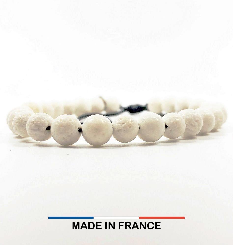 Bracelet yodee en Gorgone Blanche 6 mm