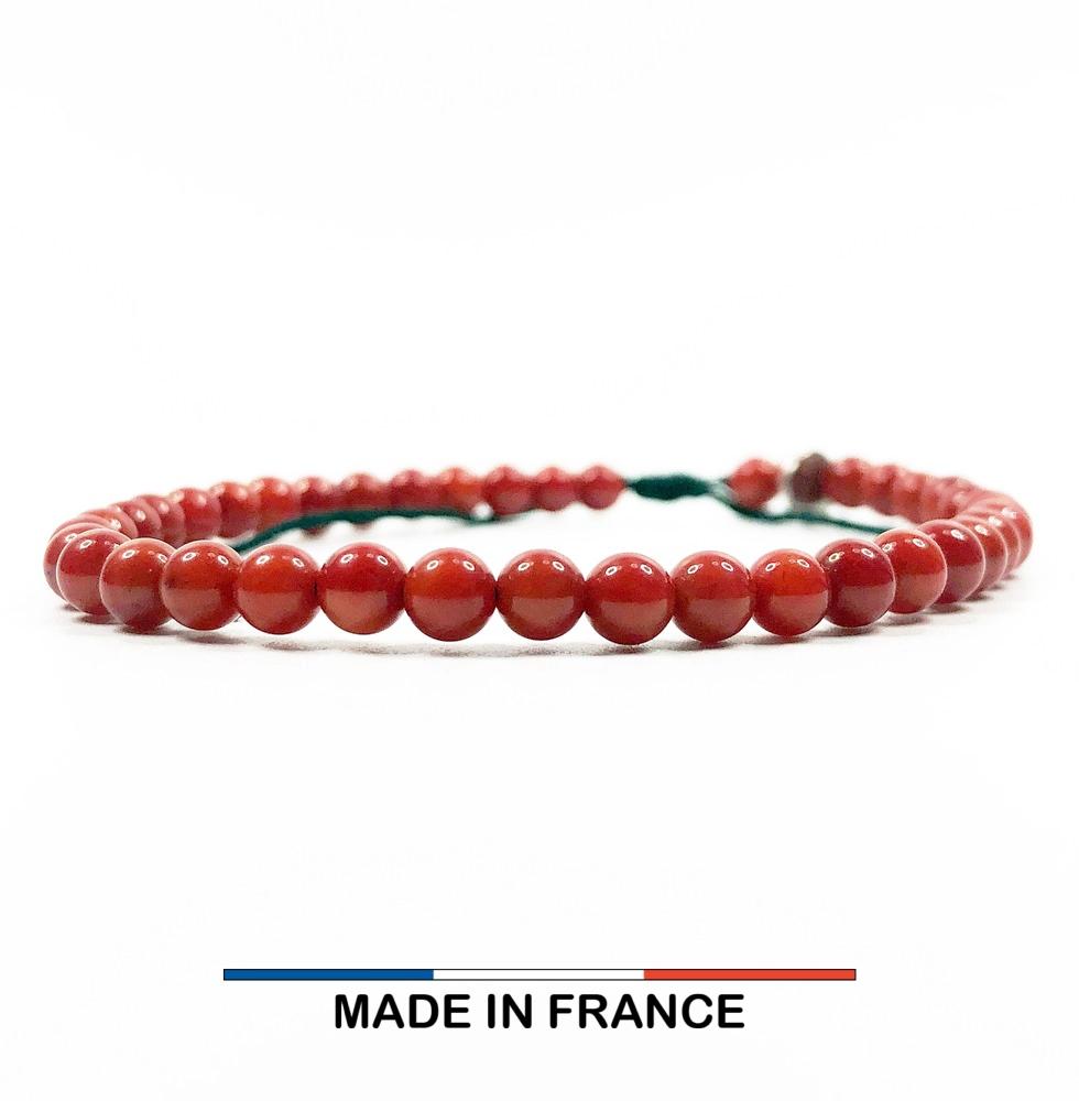 Bracelet yodee en Gorgone Rouge 4 mm