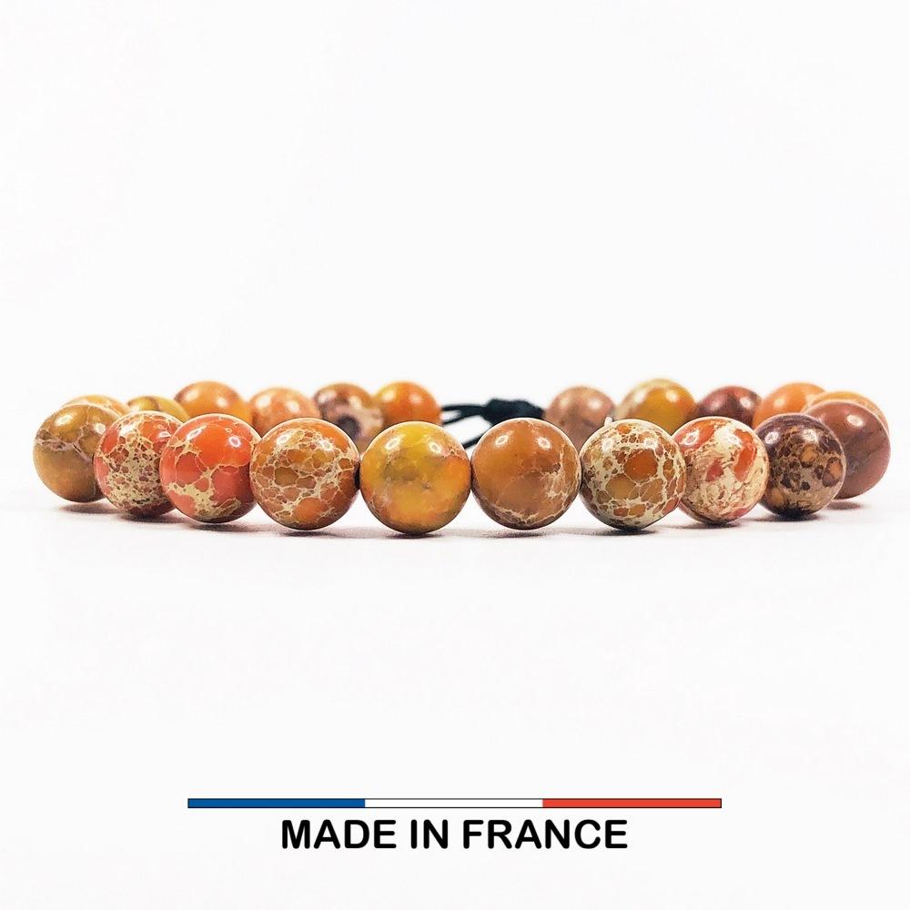 Bracelet yodee en Jaspe Corail 8 mm