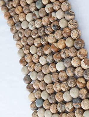 Perles en jaspe paysagé