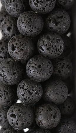 Perles pierre de lave
