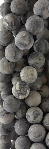 Pierres polies roulées jaspe picasso gris